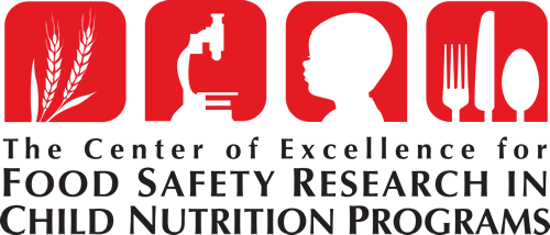 Center of Excellence for Food Safety Research in Child Nutrition Programs logo